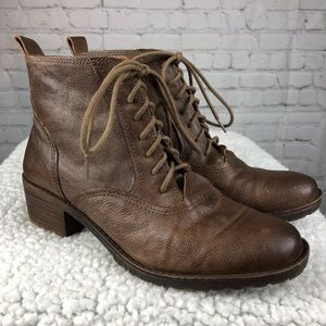 Lucky Brand Giorgia Lace Up Combat Boots Size 7.5